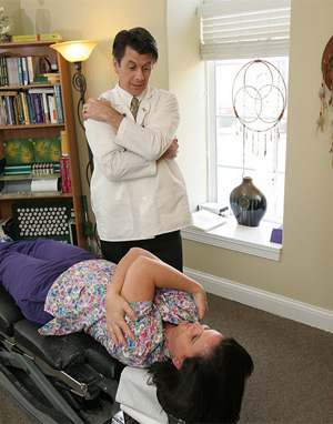 Chiropractor Sean Lotterer uses Light Force gentle adjustments